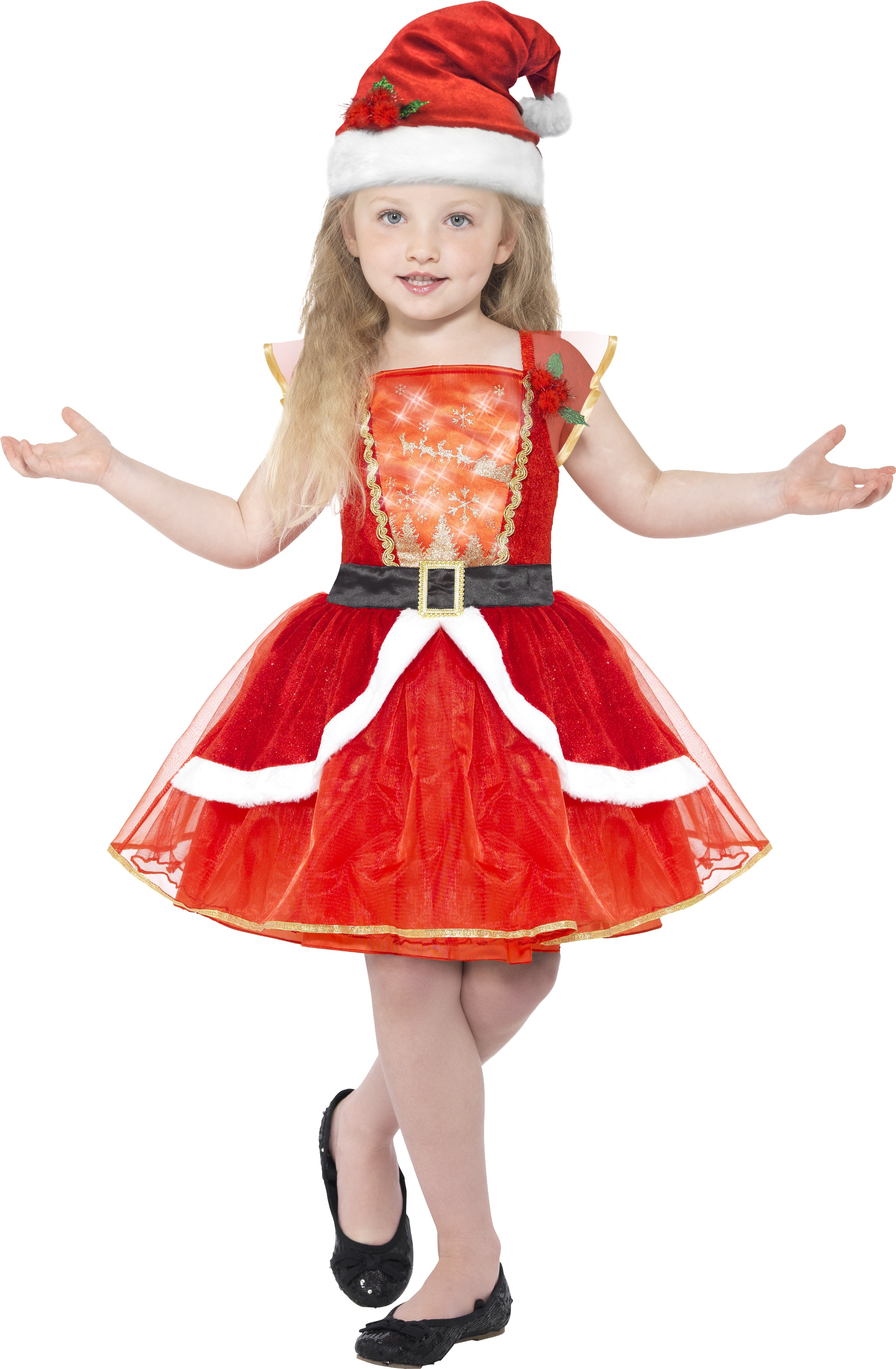 Kerst Jurk Little Santa Girls Costume Kids Christmas Costumes