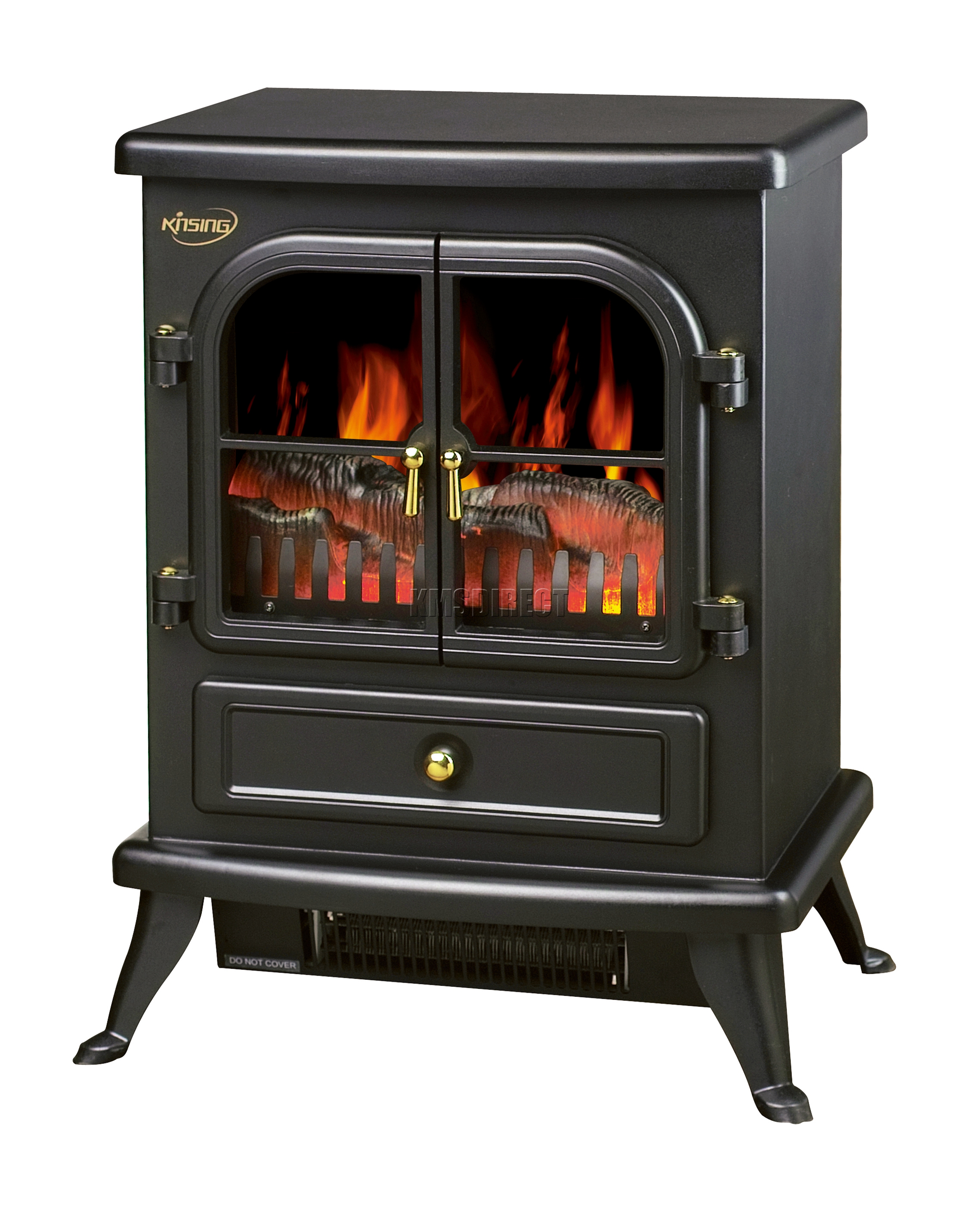 Livin Flame Elektrische Sfeerhaard New 1850w Log Burning Flame Effect Stove Electric Fire