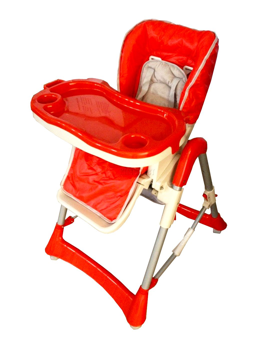 Foldable Red Baby High Chair Recline Highchair Height