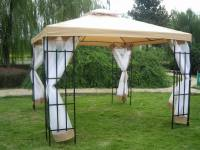 3 x 3m Patio Metal Gazebo Canopy Tent Pavilion Garden ...