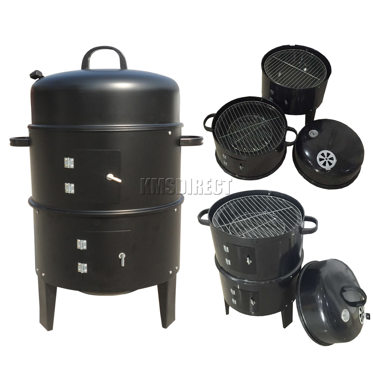 Charcoal For Bbq Foxhunter Black Bbq Charcoal Grill Barbecue Smoker Garden