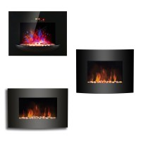 LED Flame Effect Wall Mounted Electric Fire Fireplace ...