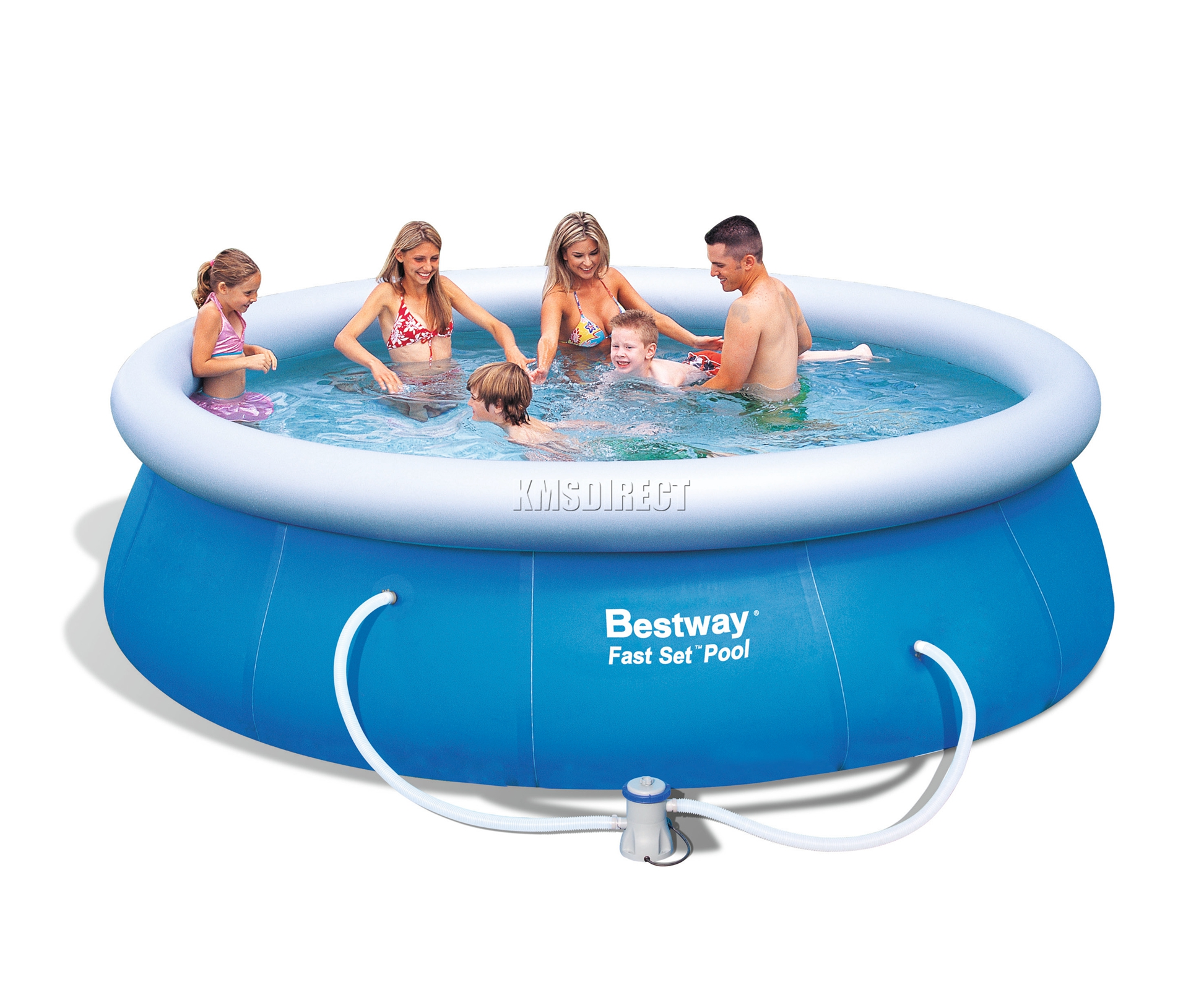 Pool Polyester Rund Bestway Swimming Ground Pool Round Inflatable 12ft X