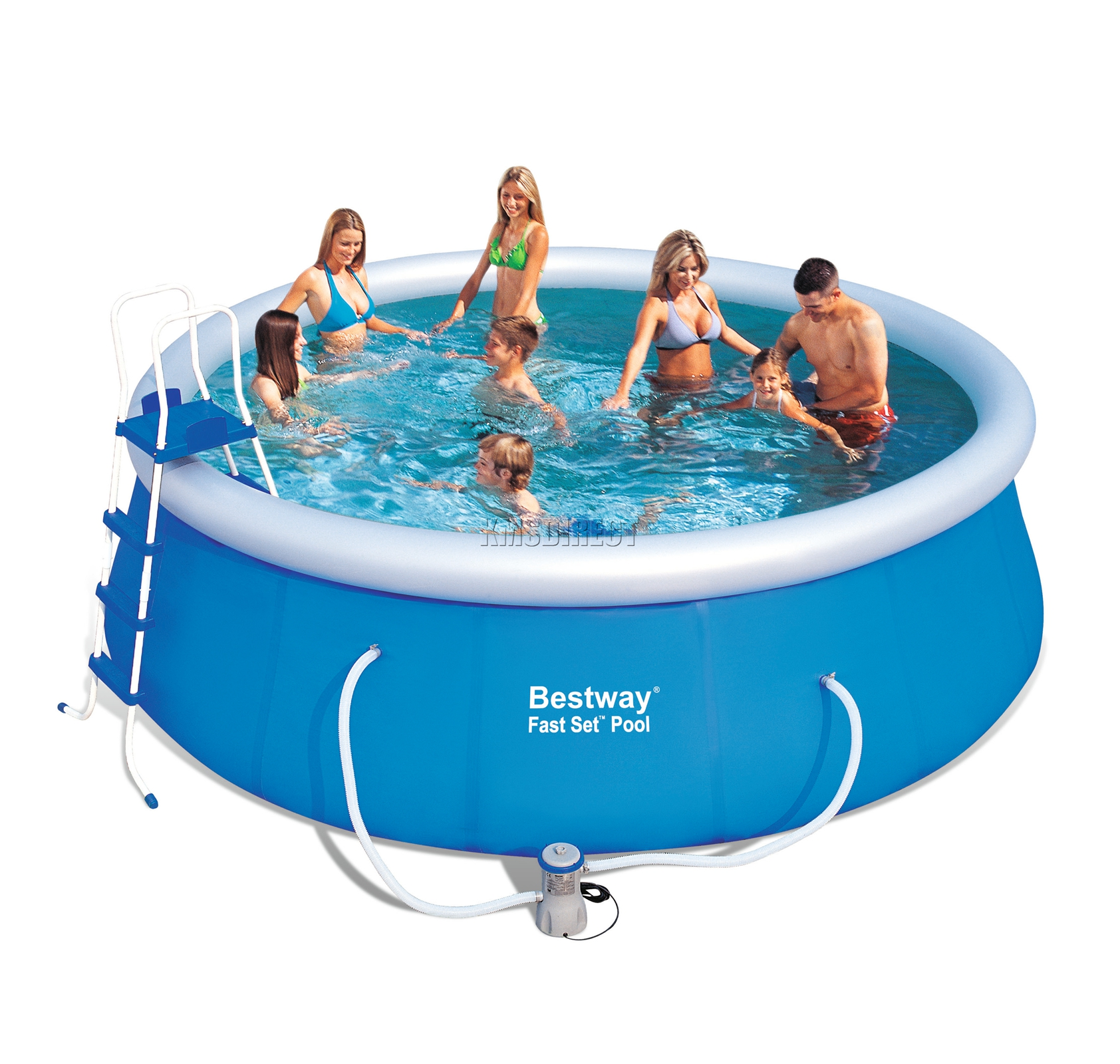 Pool Pumpe Anschließen Anleitung Bestway Bestway Fast Set Swimming Pool Round Inflatable 15ft X