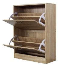 WestWood Wooden Shoe Storage Cabinet 2 Drawer Footwear ...
