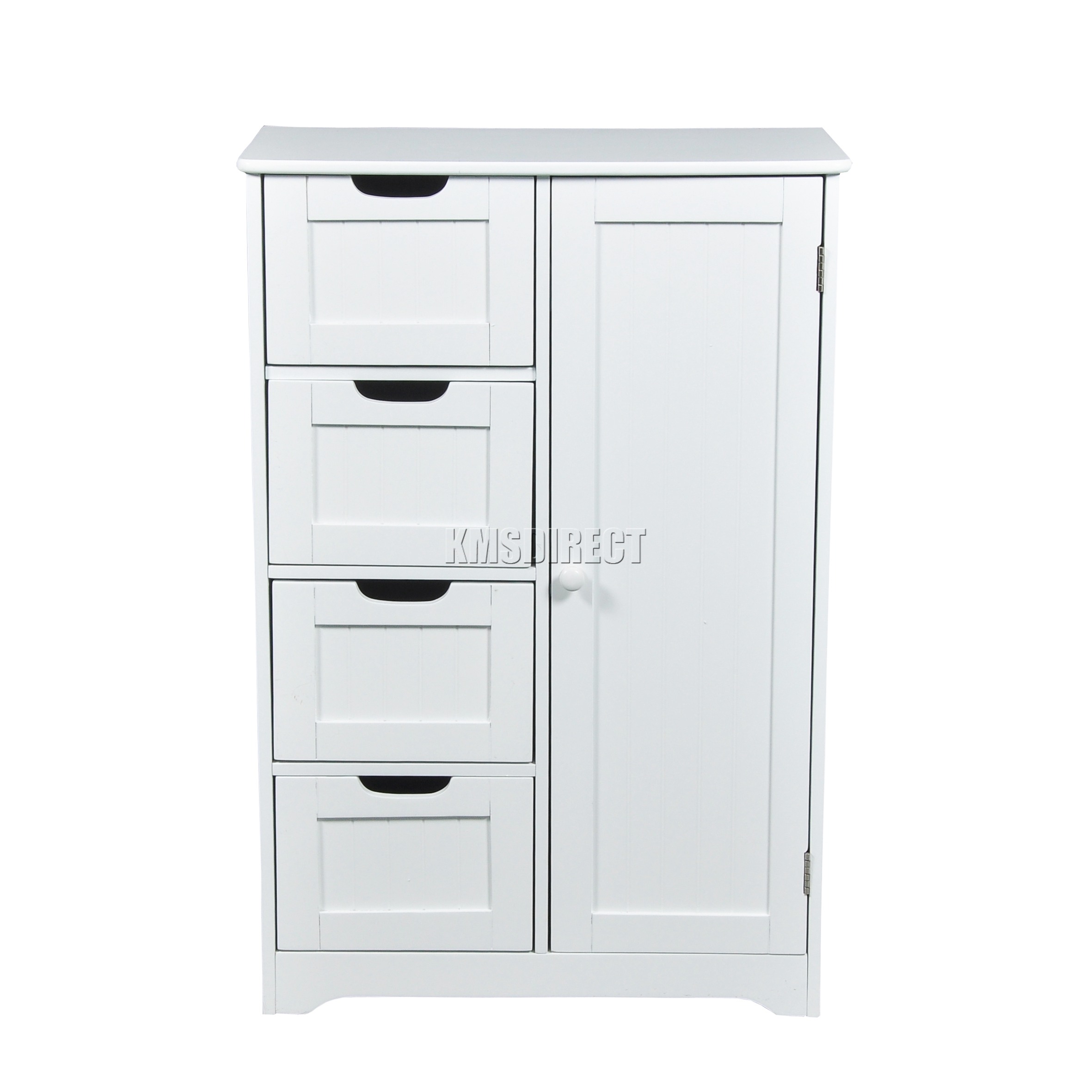 White Cupboard Foxhunter White Wooden 4 Drawer Bathroom Storage Cupboard