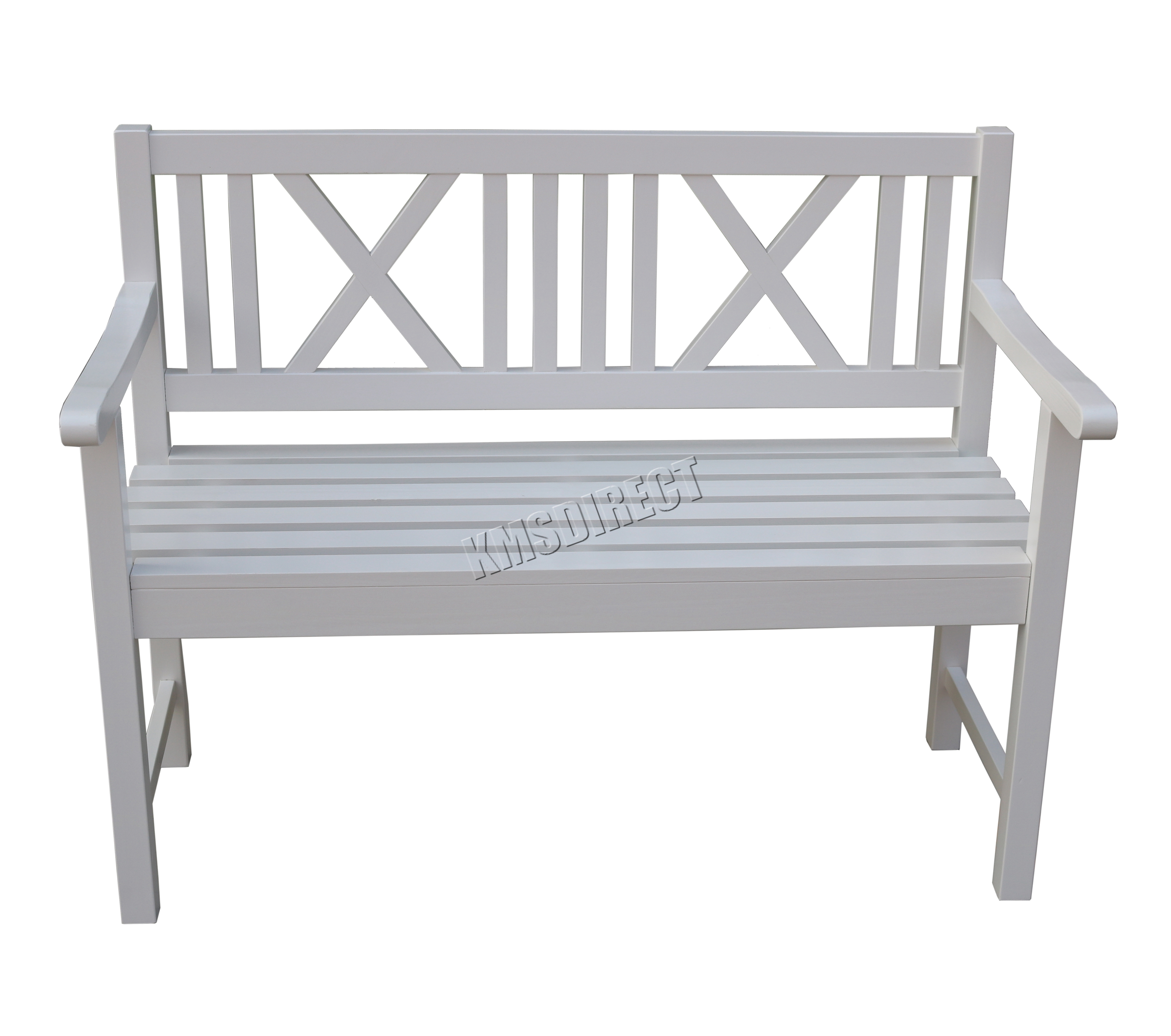 White Bench Seat Foxhunter Outdoor Home 2 Seat Seater Garden Bench Fir Wood