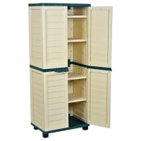 Starplast Outdoor Plastic Garden Utility Cabinet With 4 ...