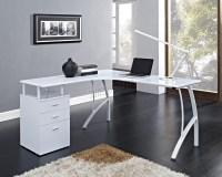 FoxHunter L-Shaped Corner Computer Desk PC Table Home ...