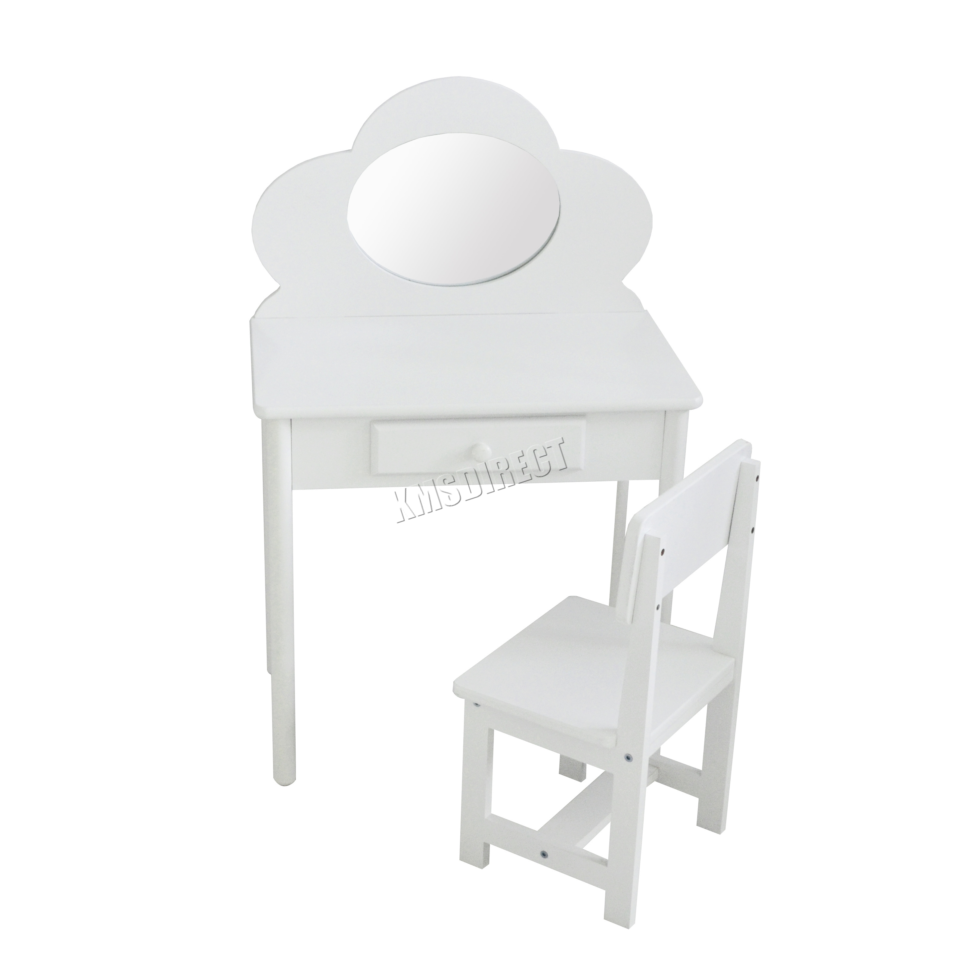 Kids Vanity Chairs Foxhunter Kids Girls Dressing Table Chair Set Makeup
