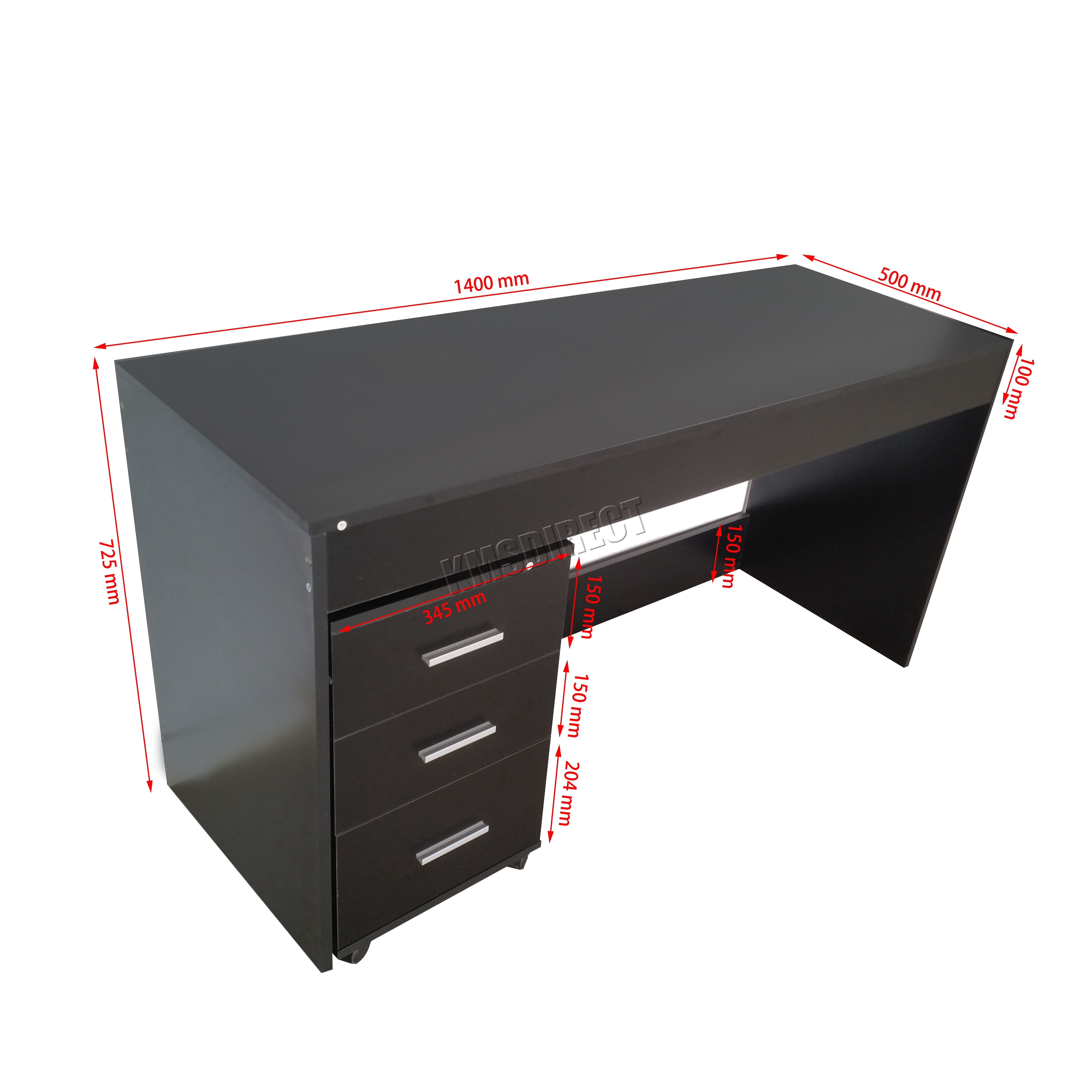 Table Pc Foxhunter Computer Desk Pc Table With 3 Drawers Home