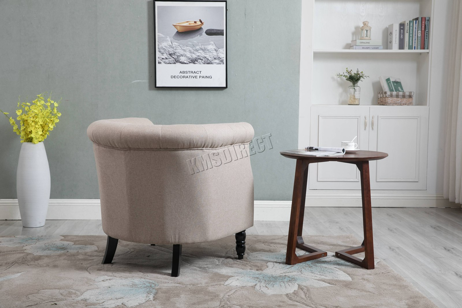 Wohnzimmer In Cream Details Zu Westwood Vintage Linen Fabric Tub Chair Armchair Dining Living Room Lounge Tc07