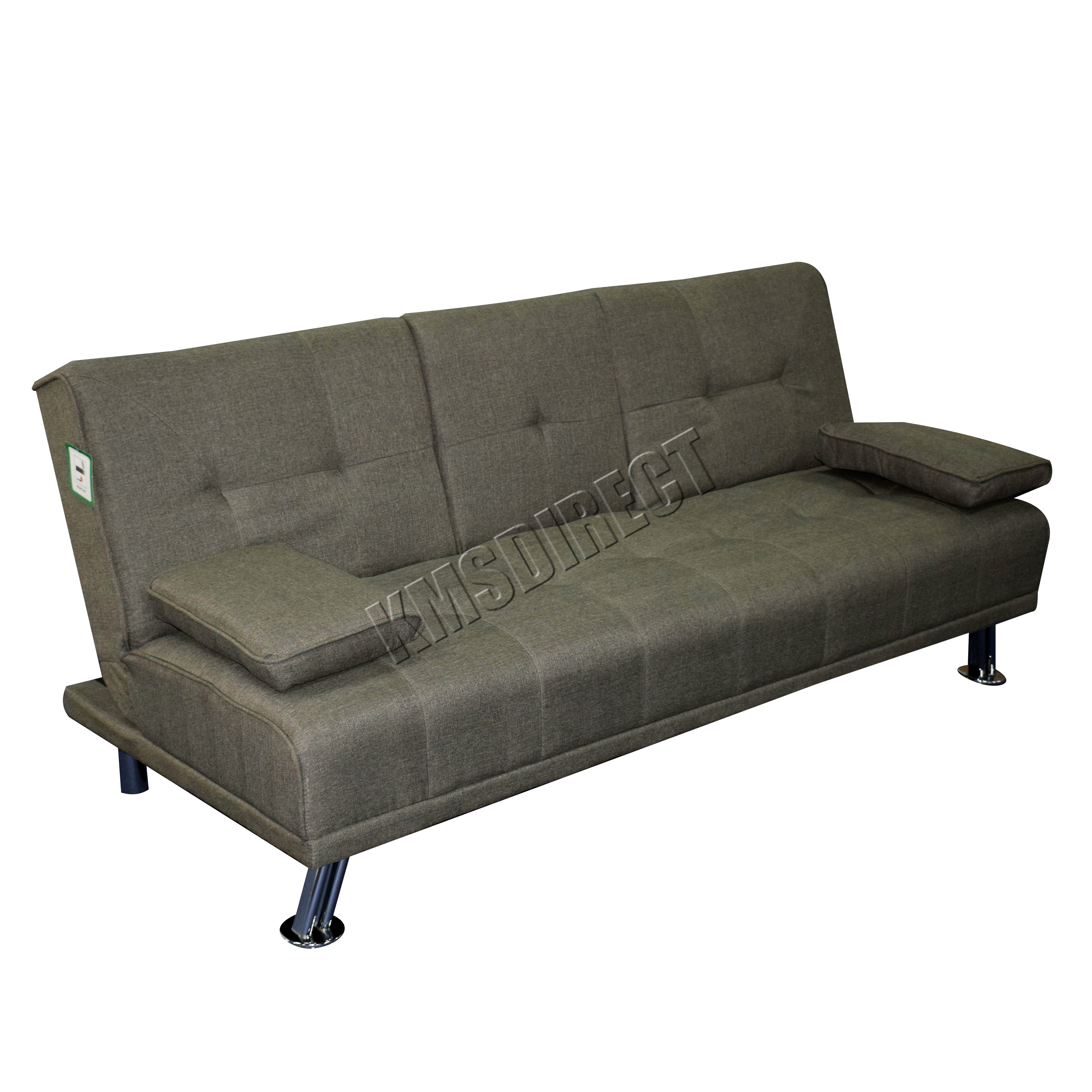 Sofa City Conforama Details About Box Damaged Foxhunter Fabric Manhattan Sofa Bed Recliner 3 Seater Modern Grey
