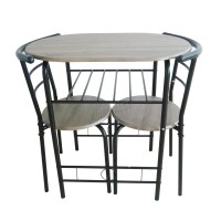 FoxHunter Compact Dining Table Breakfast Bar 2 Chair Set ...