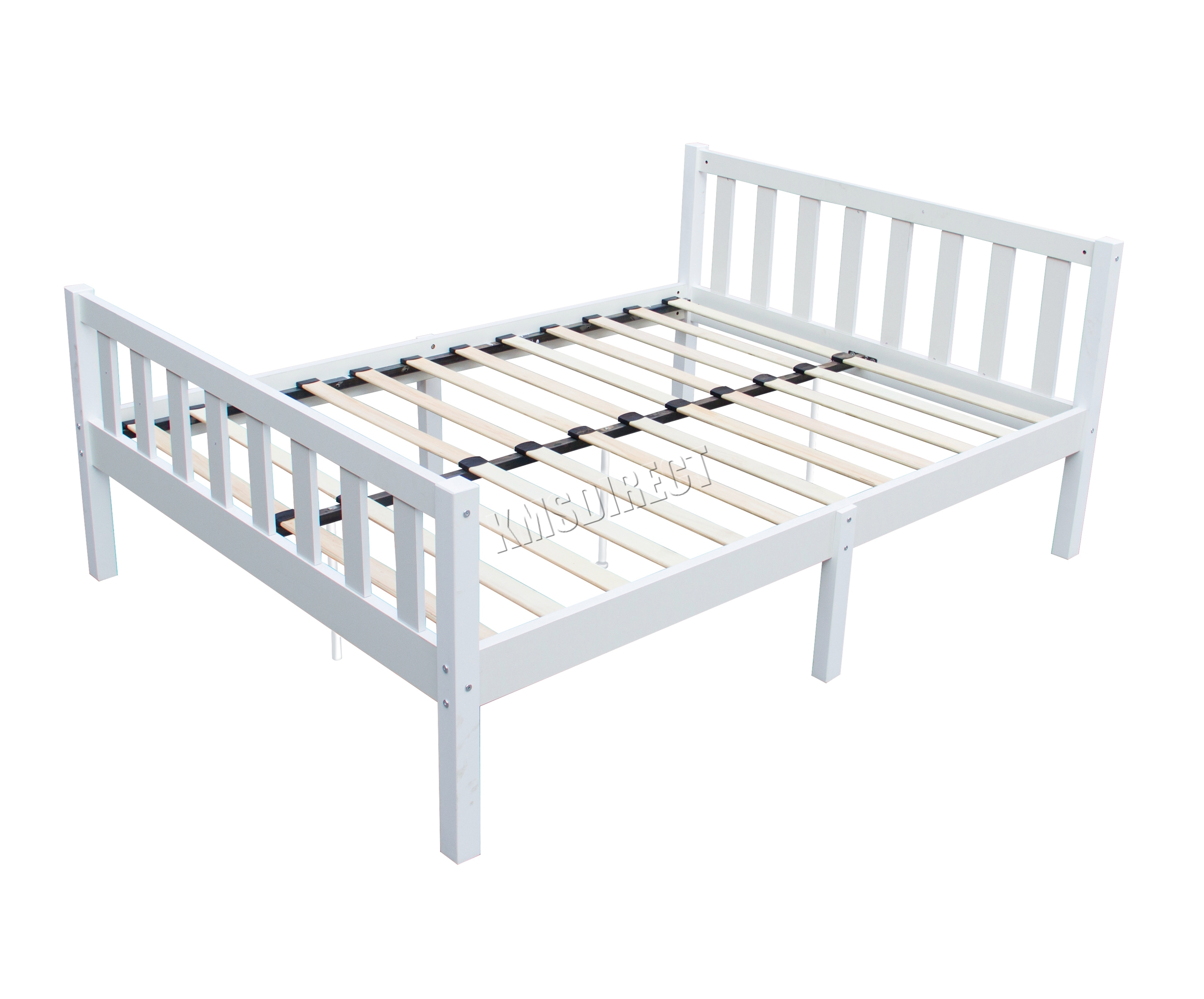 White Wooden Small Double Bed Westwood 4ft6 Double Wooden Bed Frame Pine Bedroom Home