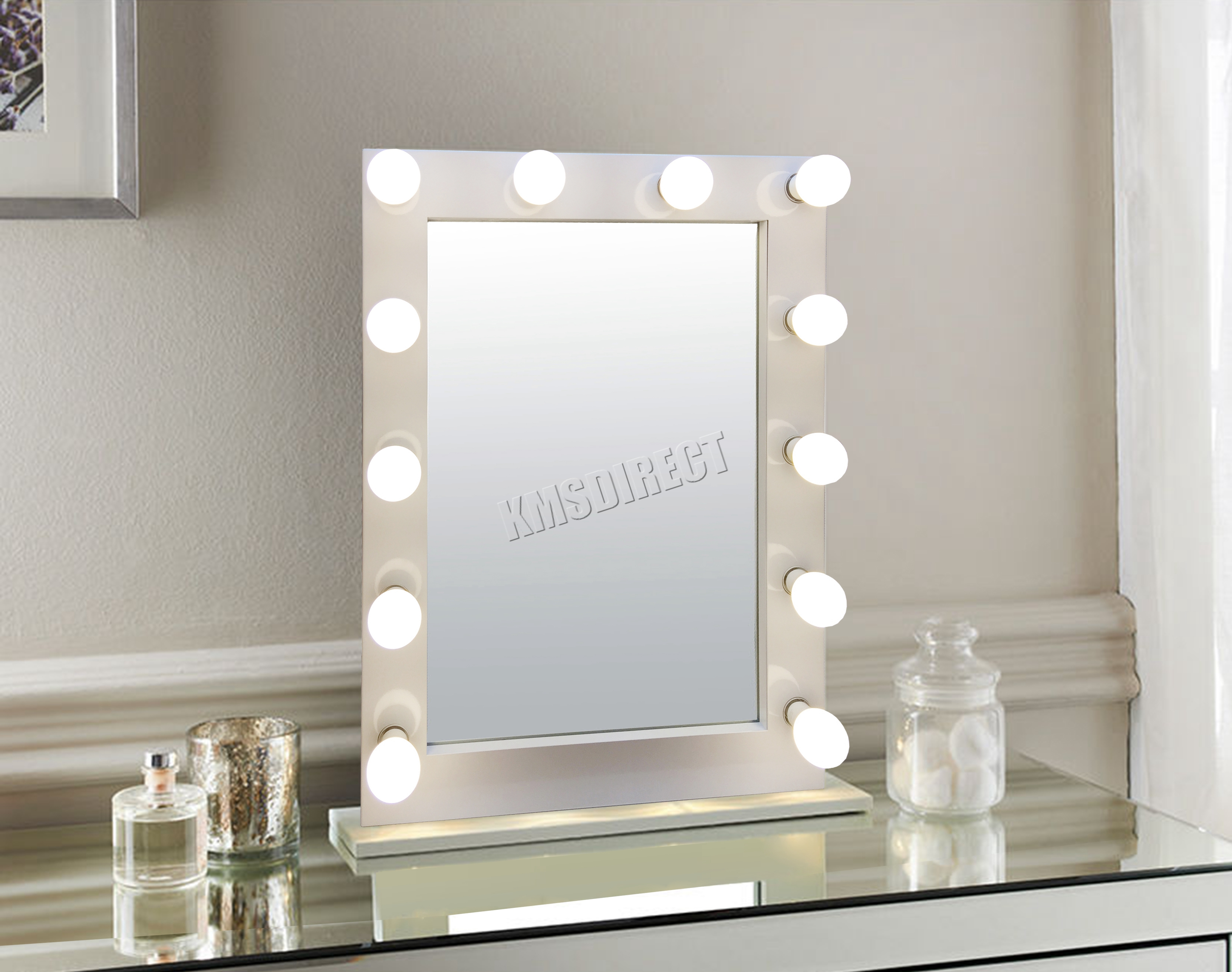 Led Beauty Mirror Foxhunter Makeup Mirror Led 12 Bulbs Dimmer Light Cosmetic