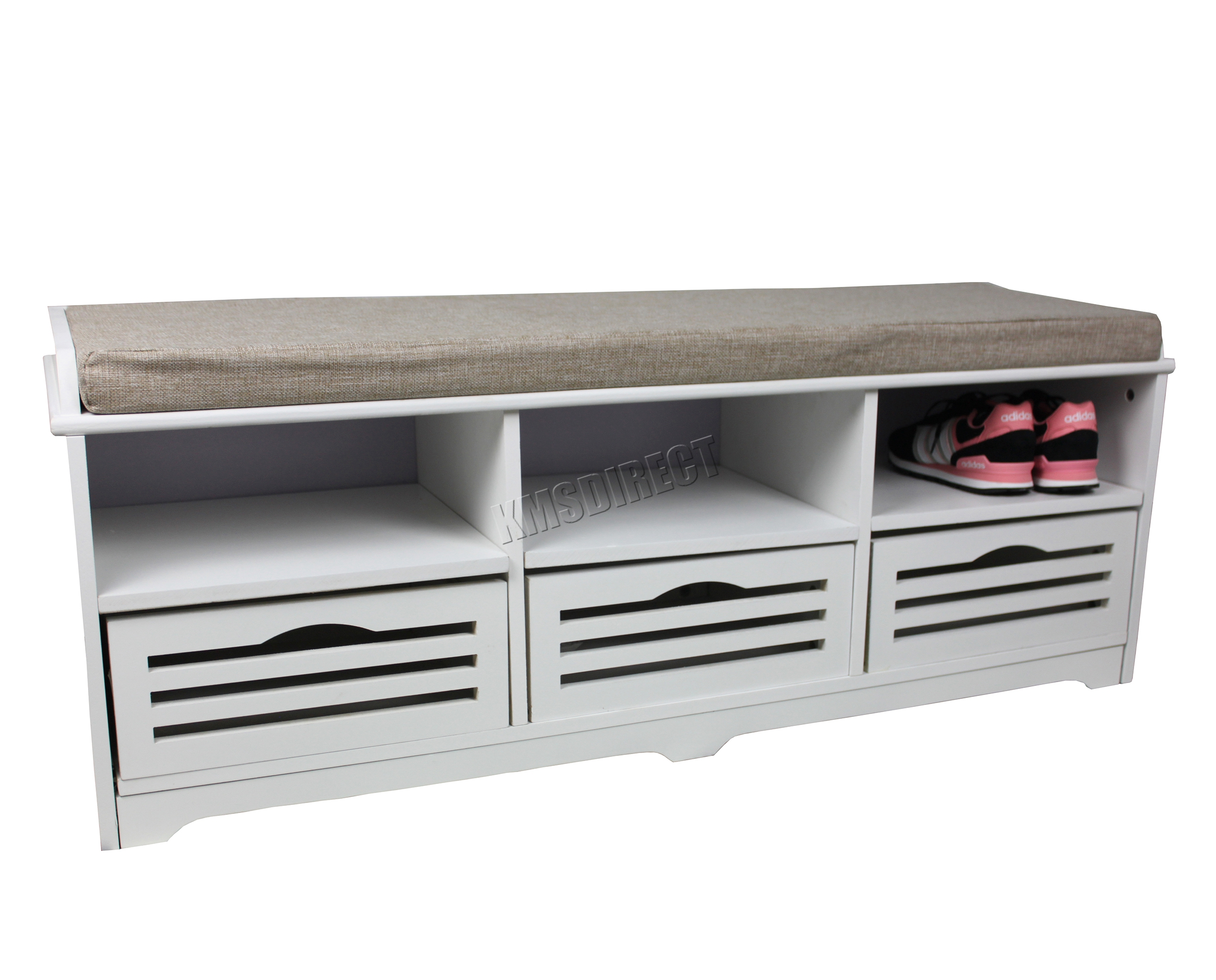 White Bench Seat Foxhunter Shoe Storage Bench With Drawers Padded Seat