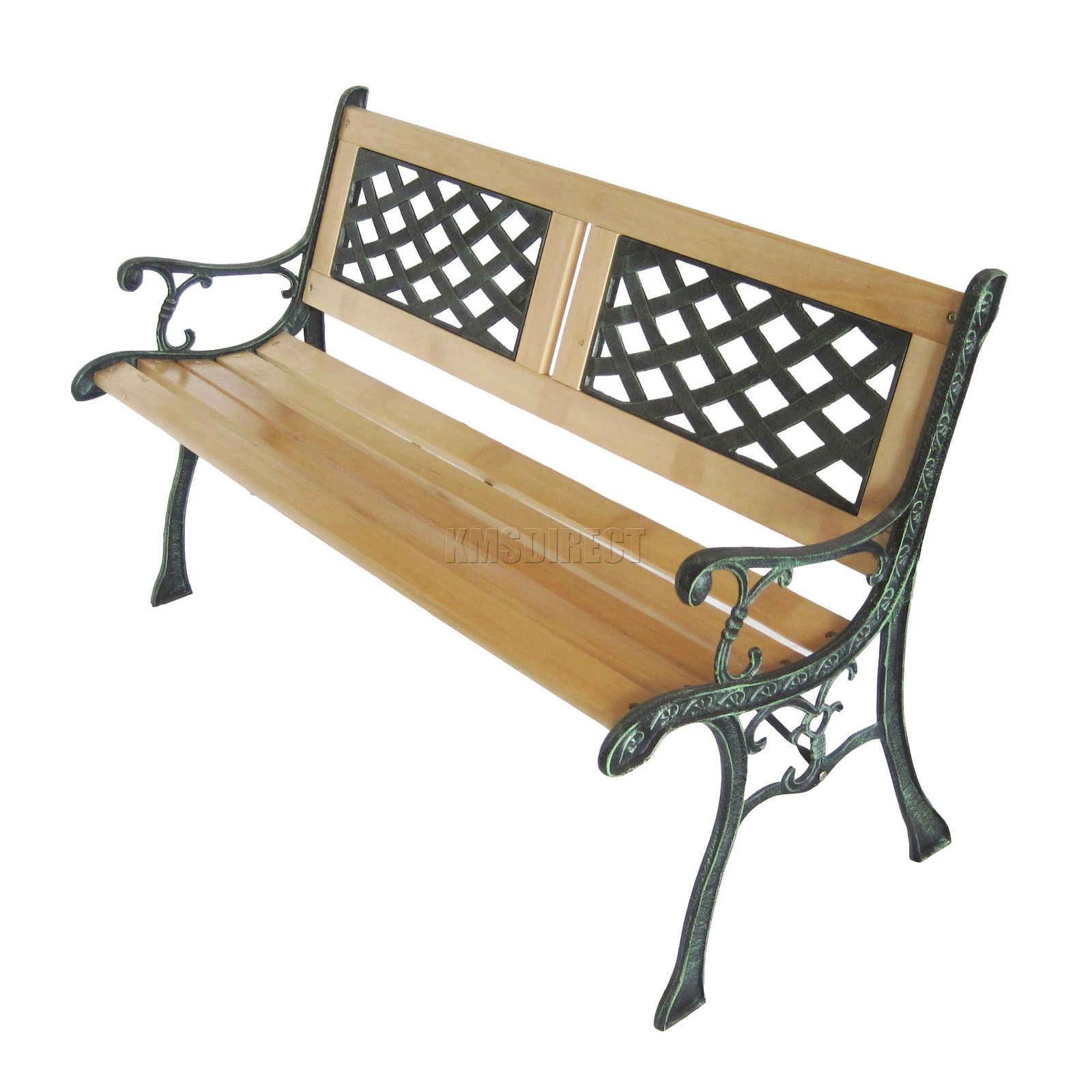 Wooden Park Benches Front 3 Seater Outdoor Wooden Garden Bench Lattice Slat With