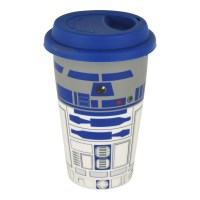R2D2 CERAMIC TRAVEL MUG THERMAL COFFEE CUP FILM STAR WARS ...