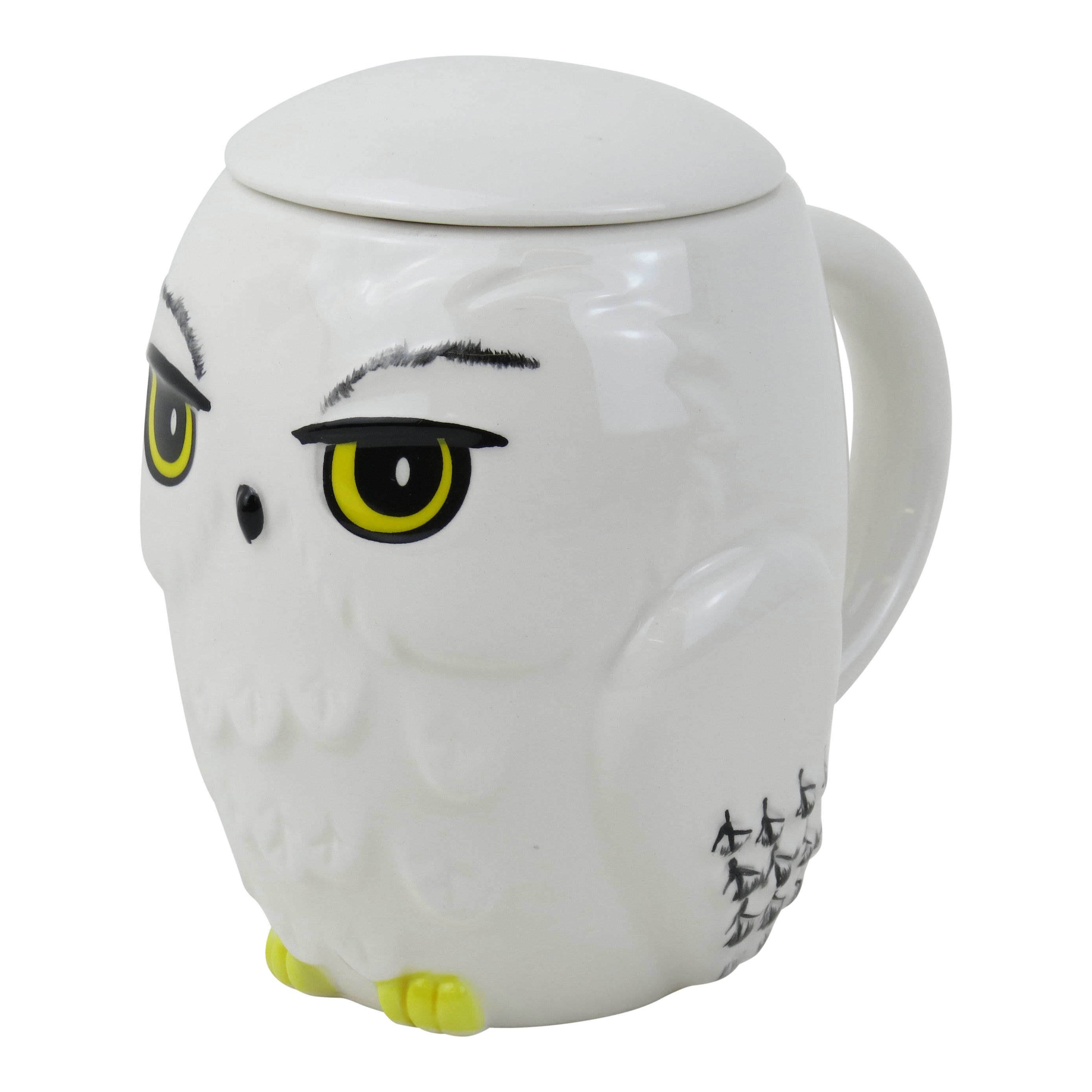 Owl Ceramic Mug Harry Potter Hedwig 3d Mug With Lid Ceramic Cup Owl