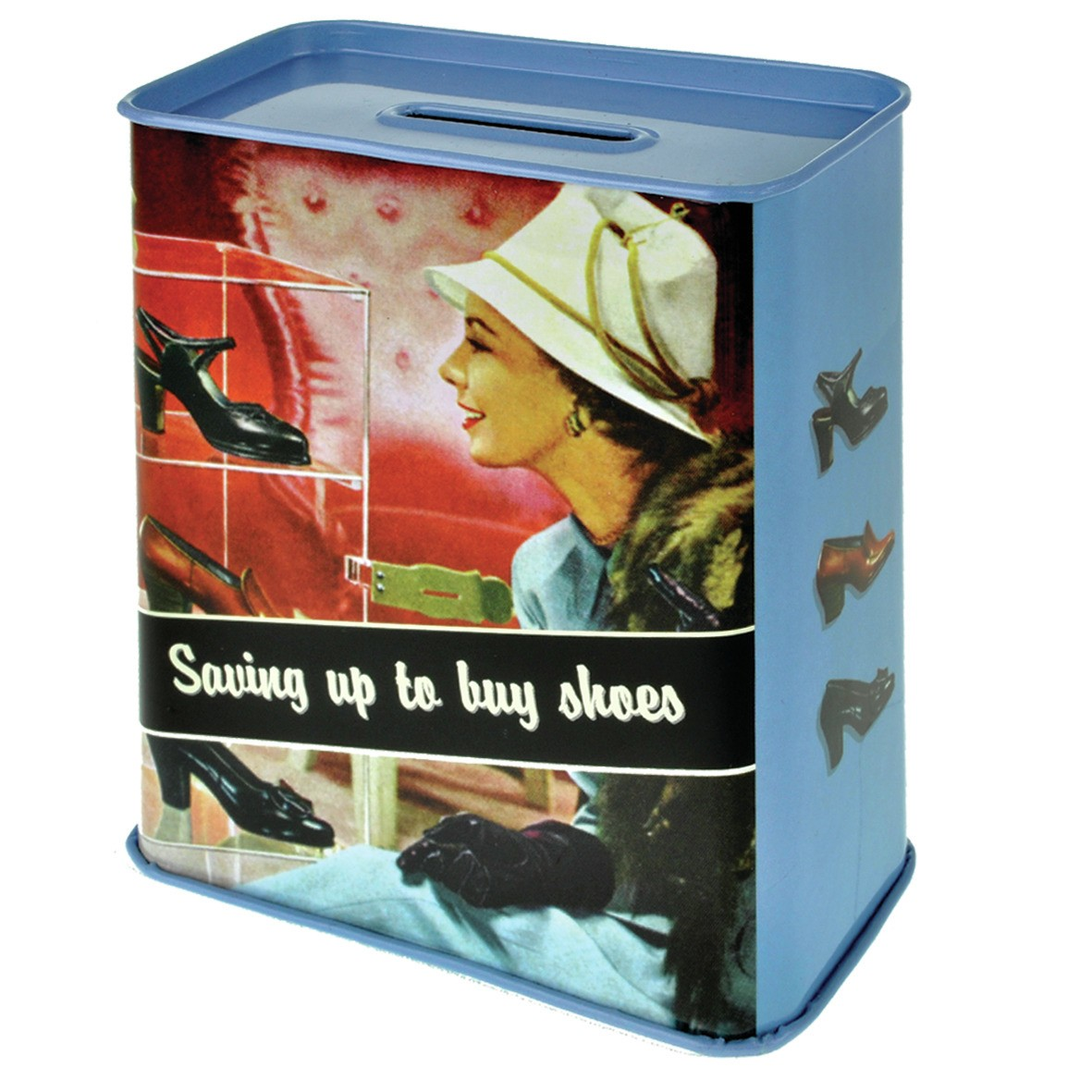 Buy Money Box Saving Up To Buy Shoes Tin Money Box For Her Kitschagogo