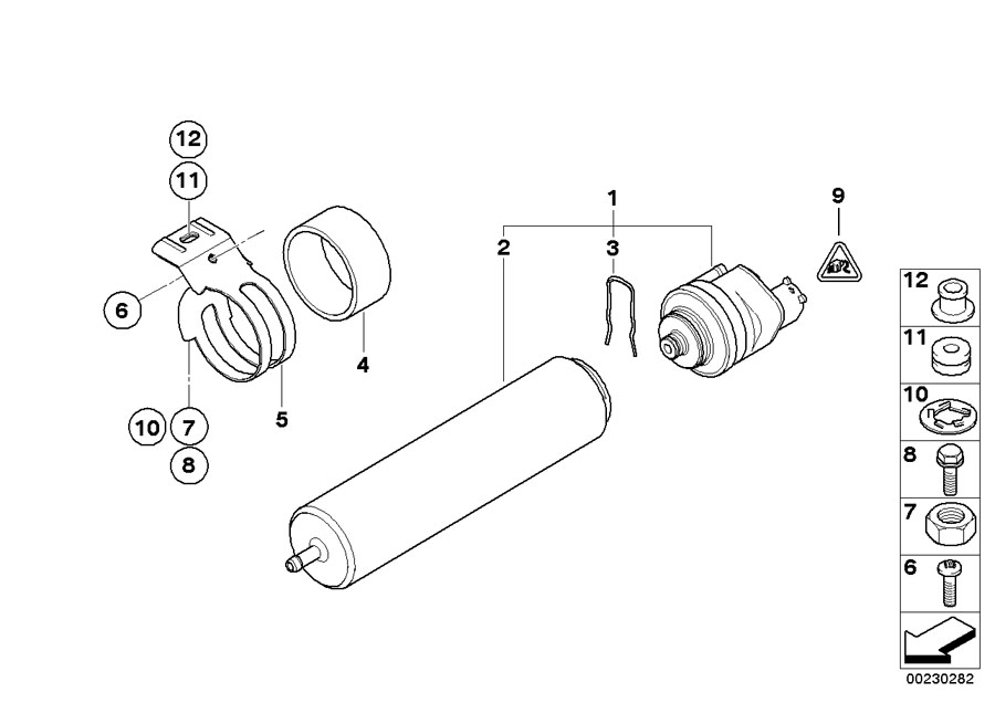 bmw fuel filter diagram