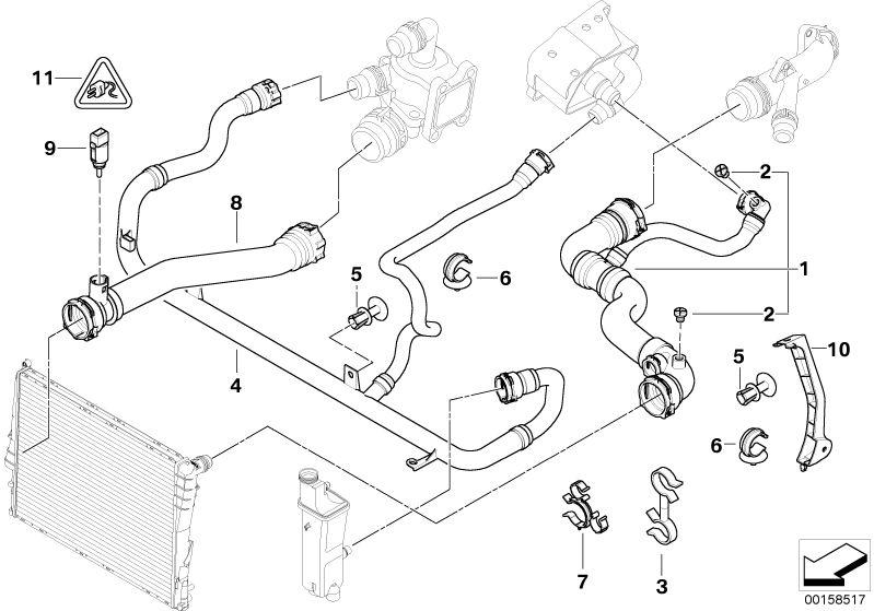 540i cooling system diagram