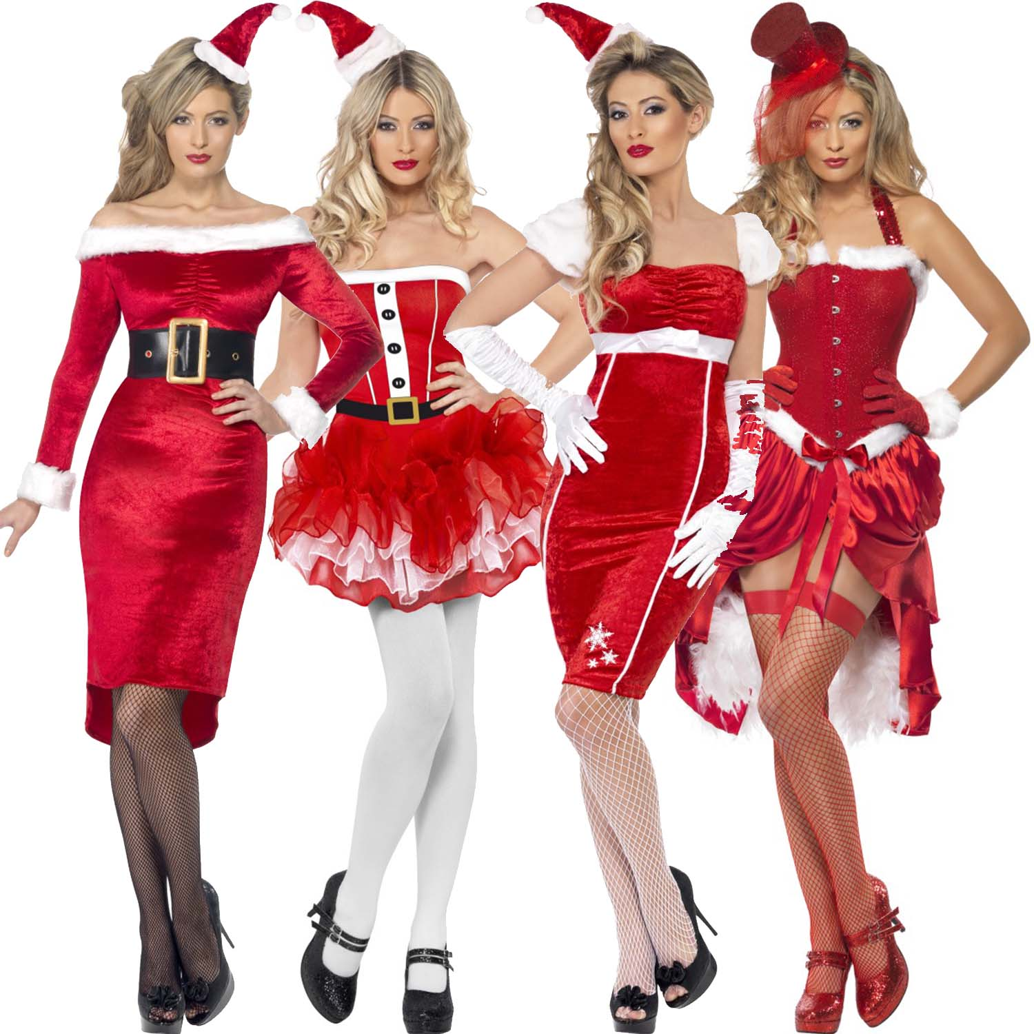 Image is loading ladies womens new sexy christmas santa girl pinup