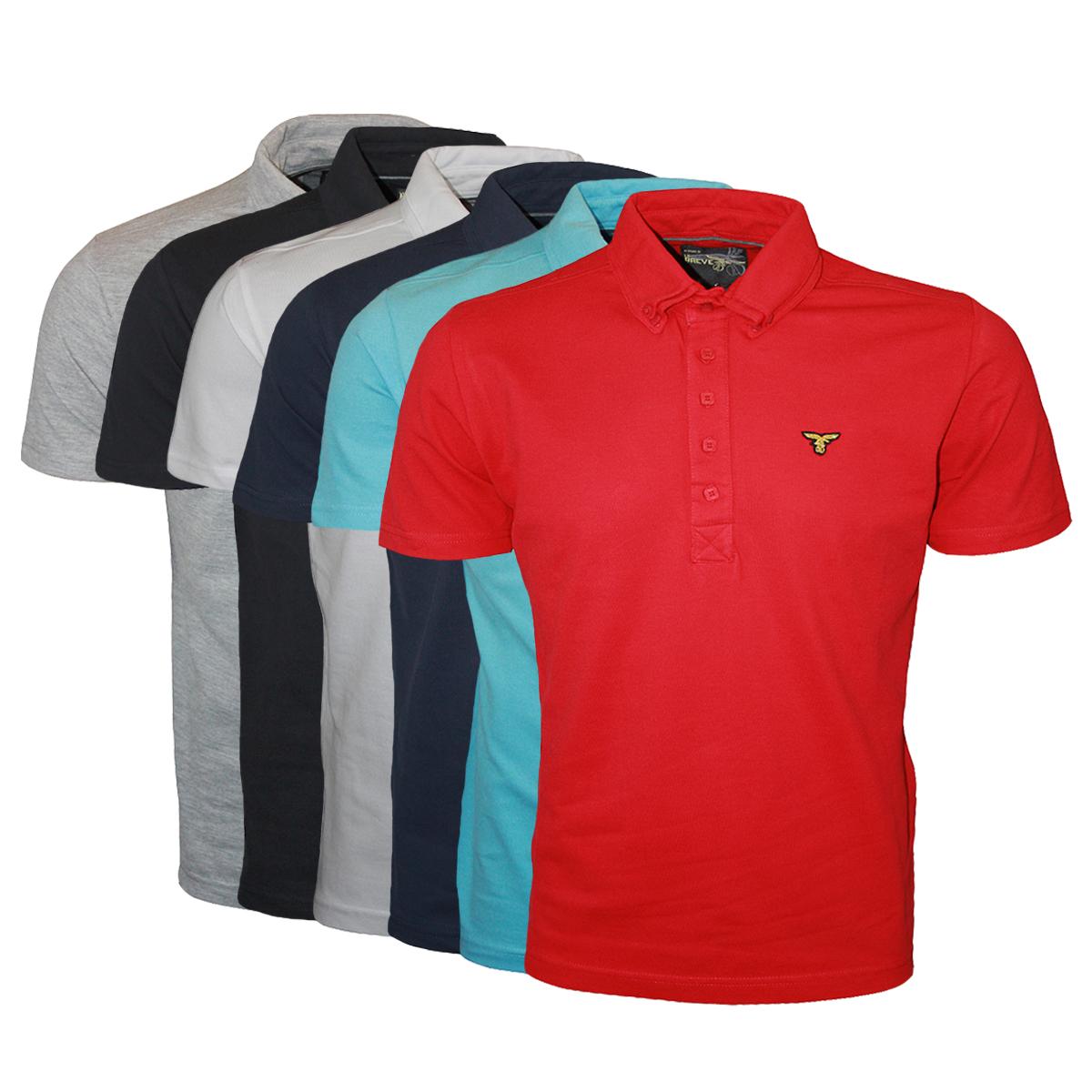 Le breve jeans mens designer bill collar polo neck t shirt top sizes s xxl