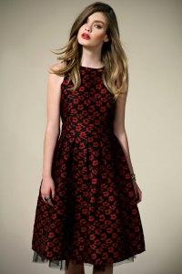 Boohoo Boutique Isla Brocade Floral Midi Length Prom Dress ...