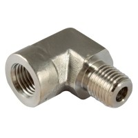 "316 PRECISION PIPE FITTINGS - 3/8"" NPT M/F 316 ELBOW 1-11240"