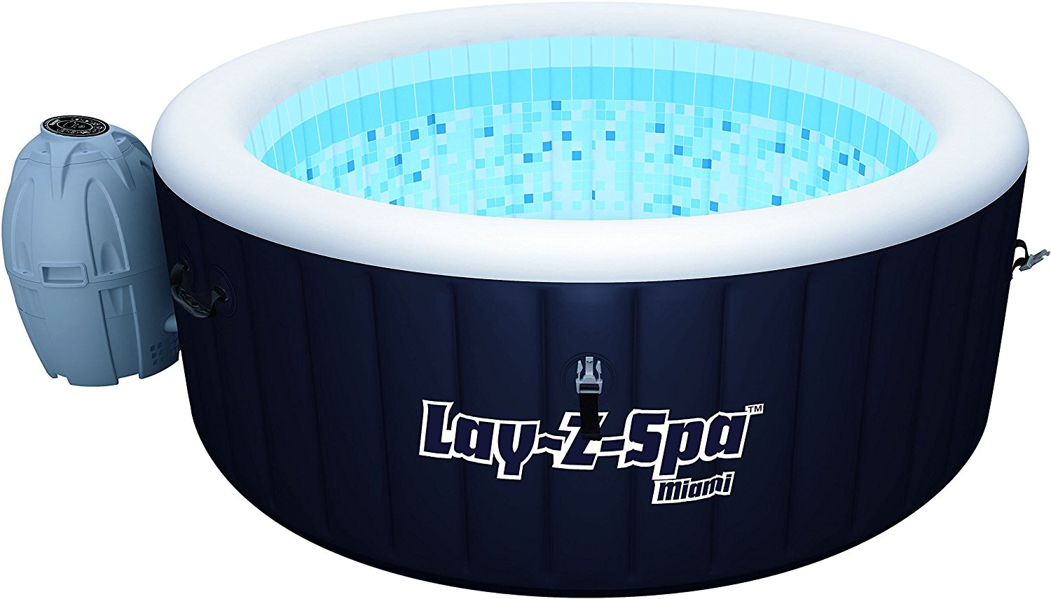 Zwembad Warmtepomp Panasonic New Bestway Lay Z Spa Miami Round Inflatable Hot Tub 2 4