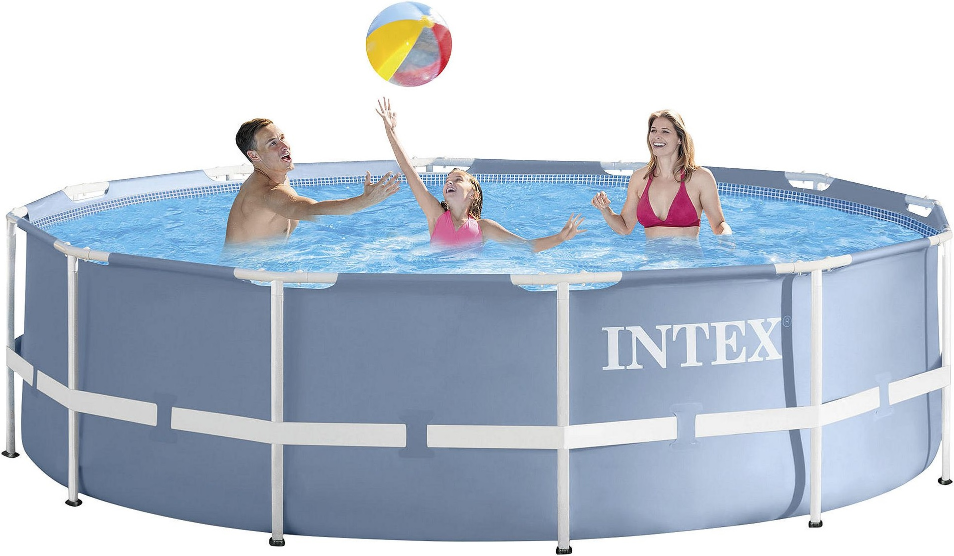Intex Pool Frame Rund New Intex Metal Frame Round Pool With Ladder And Filter Pump