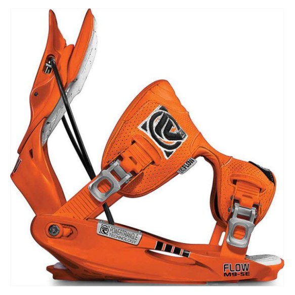 Flow M9 SnowBoard Binding 2012 in Orange Size Medium