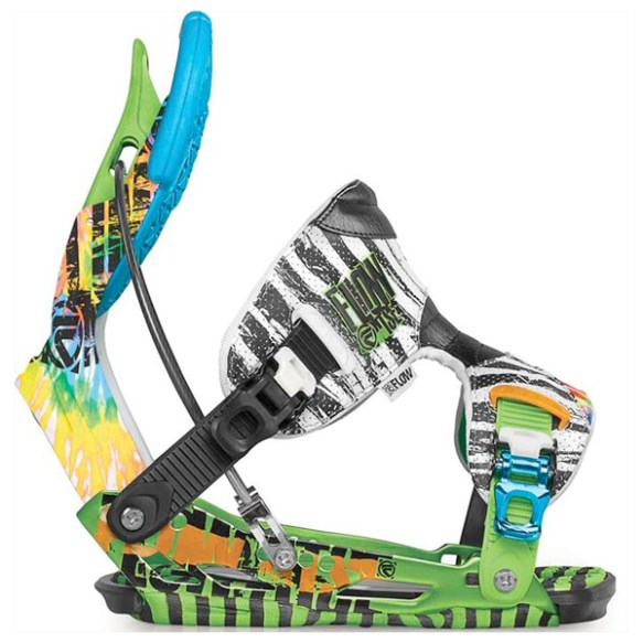Flow NXT ATSE Snowboard Binding in Lime Size Medium