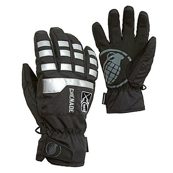 Grenade Fragment Snowboard Ski Gloves 2011 in Black