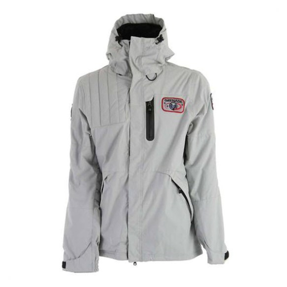 Grenade Mens Astro Snowboard Jacket in Grey 2012