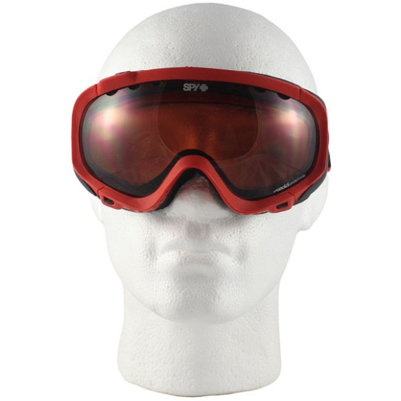Spy Soldier Snowboard Ski Goggles - Matt Red - Rose Mirror Lens