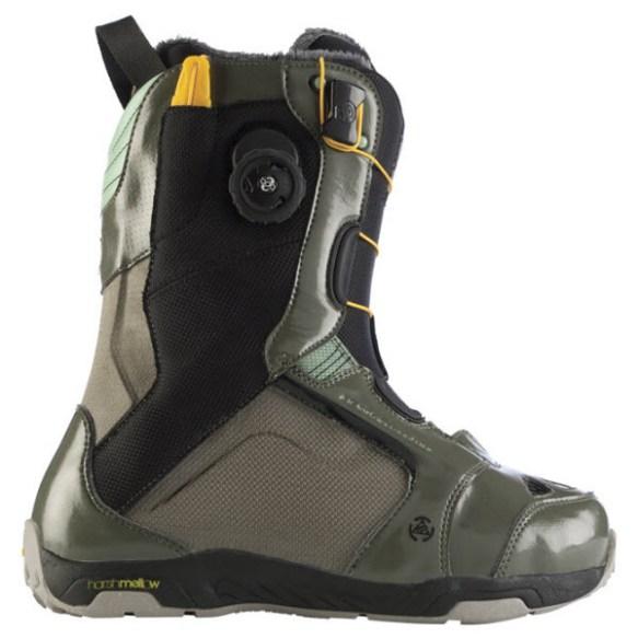 K2 T1 SPDL Mens Snowboard Boots New Olive 2012 UK 8