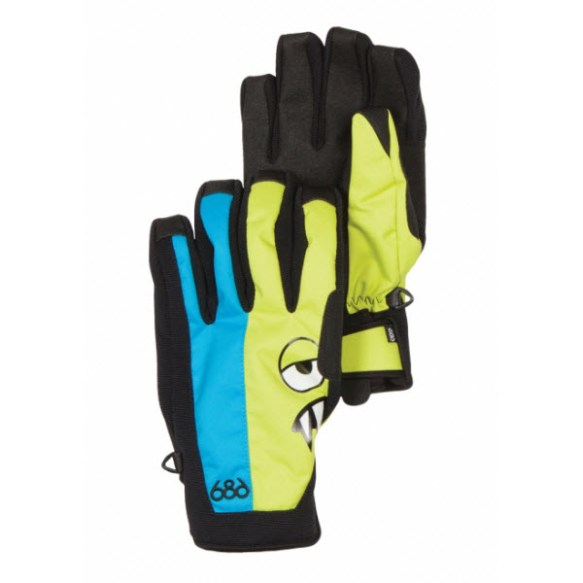 686 Snaggleface 2 Pipe Gloves Bluebird 2014