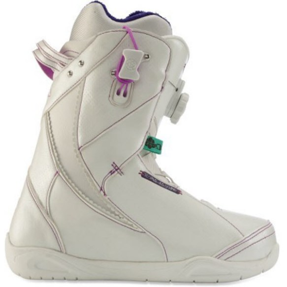 K2 Sapera BOA Womens Snowboard Boots 2012 in White UK 5.5