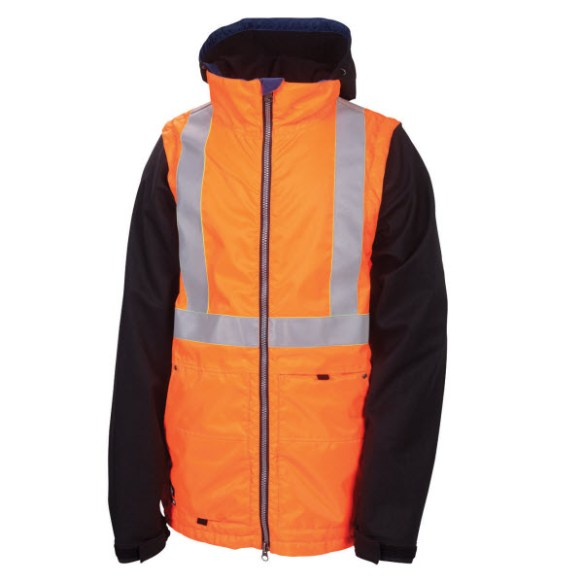686 LTD Times Dickies Safety Mens Snowboard Jacket Orange Large New Sample 2013