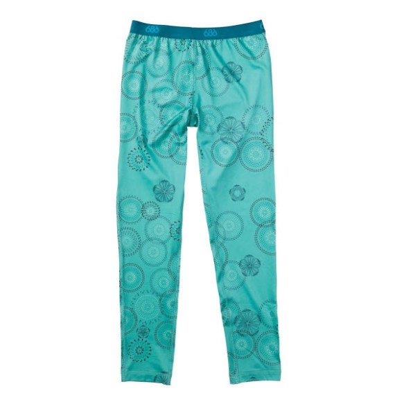 686 Girls Rings Base layer Thermal Pants Snowboard Ski Seafoam Age 10/12 2013