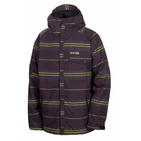 686 factor mens mannual snowboard jacket black stripe large new sample 2013