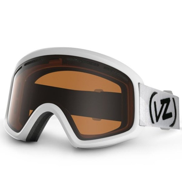 Vonzipper beefy snowboard ski goggles 2014 in white gloss with Bronze lens
