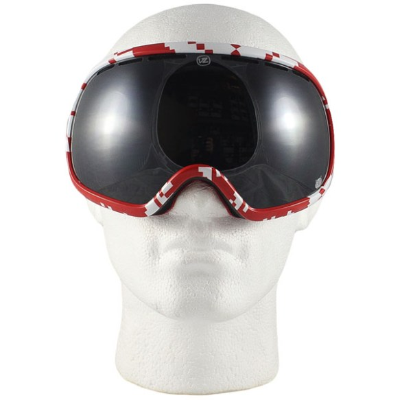 Von Zipper Fishbowl snowboard ski goggles 2013 J.J Kush Flake Black Chrome lens