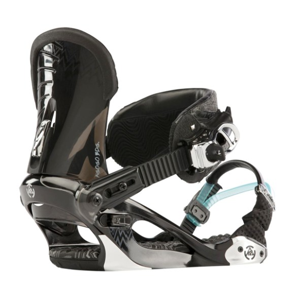 K2 Agogo Womens Small Snowboard Bindings 2013 Black Medium