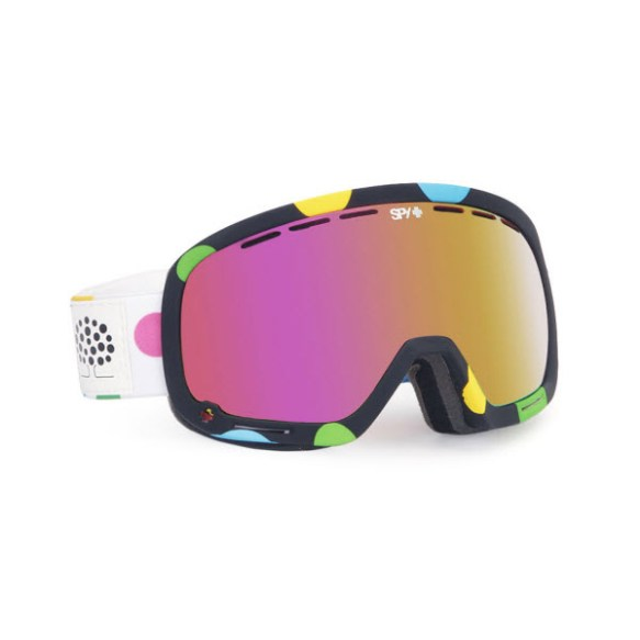 Spy Marshall Les Ettes Snowboard Ski Goggles Pink Spectra 2013