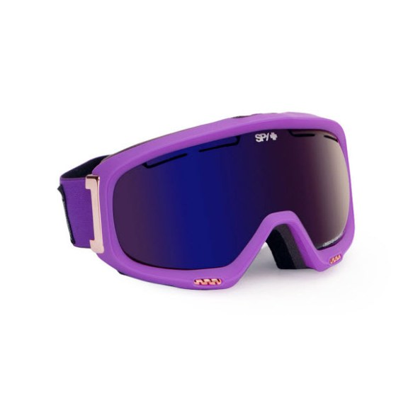 Spy Bias Ultra Purple Snowboard Ski Goggles Bronze Dark Blue Spectra Mirror 2013