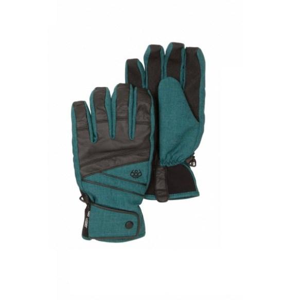686 Mens Satellite Insulated Gloves Teal Denim Texture 2013